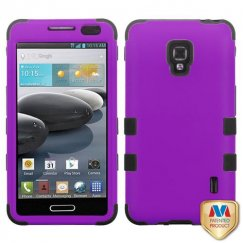 LG Optimus F6 Rubberized Grape/Black Hybrid Case