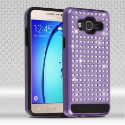 Samsung Galaxy On5 Purple/Black Diamante FullStar Case