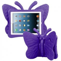 AppleiPad 1st Generation 2010 Purple Butterfly Kids Drop-resistant Protector Cover