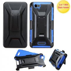 Blu Studio Energy D810 Black/Dark Blue Advanced Armor Stand Case with Black Holster