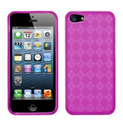 Apple iPhone 5c Hot Pink Argyle Candy Skin Cover