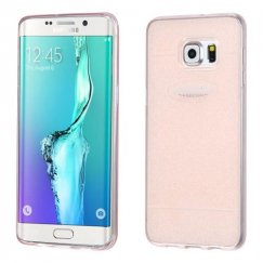 Samsung Galaxy S6 Edge Plus T-Rose Gold Glittering Clover Candy Skin Cover