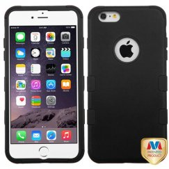 Apple iPhone 6s Plus Rubberized Black/Black Hybrid Case