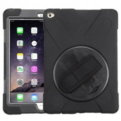AppleiPad Air 2nd Gen Black/Black Rotatable Stand Case with Wristband