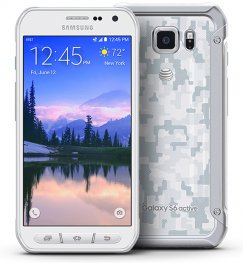 Samsung Galaxy S6 Active 64GB SM-G890A Rugged Android Smartphone - Unlocked GSM - White
