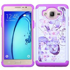 Samsung Galaxy On5 Purple Hibiscus Flower Romance/Electric Purple FullStar Case