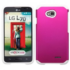 LG Optimus L70 Hot Pink/White Astronoot Case
