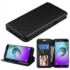 Samsung Galaxy A5 Black Braided Wallet