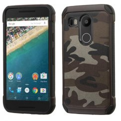 LG Nexus 5X Camouflage Gray Backing/Black Astronoot Case