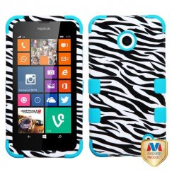 Nokia Lumia 635 Zebra Skin/Tropical Teal Hybrid Case