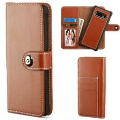 Samsung Galaxy Note 8 Brown Detachable Magnetic 2-in-1 Wallet