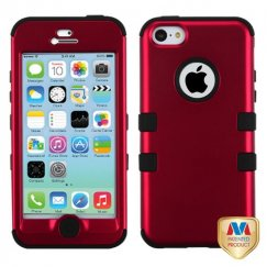 Apple iPhone 5c Titanium Red/Black Hybrid Case