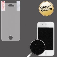 Apple iPhone 4 Glitter LCD Screen Protector/Golden
