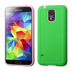 Samsung Galaxy S5 Pearl Green/Baby Pink Advanced Armor CaseCover