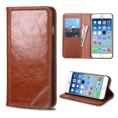 Apple iPhone 6s Brown Genuine Leather Wallet