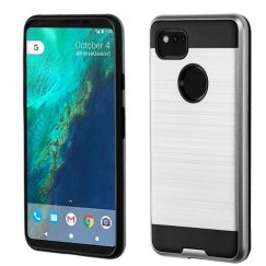 Google Pixel 2 XL Silver/Black Brushed Hybrid Case