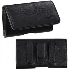HTC HD2 Black/Gray Textured Horizontal Pouch