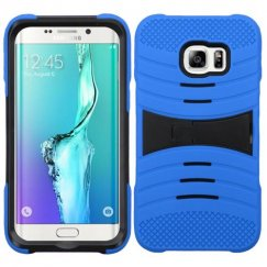 Samsung Galaxy S6 Edge Plus Black/Blue Wave Symbiosis Case with Horizontal Stand