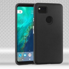 Google Pixel 2 XL Black Dots Textured/Black Fusion Case