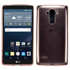 LG G Stylo Glossy Transparent Rose Gold Candy Skin Cover