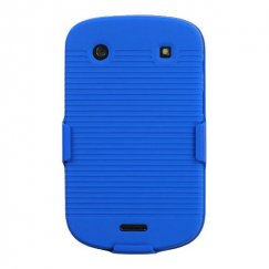 Blackberry Bold 9930 Rubberized Blue Hybrid Holster