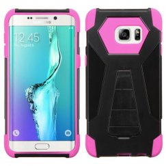 Samsung Galaxy S6 Edge Plus Hot Pink Inverse Advanced Armor Stand Case