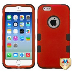 Apple iPhone 6s Titanium Red/Black Hybrid Case
