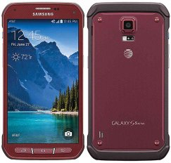 Samsung Galaxy S5 Active 16GB SM-G870a Rugged Android Smartphone - Straight Talk Wireless - Red