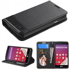 LG Tribute Black/Black wallet with Card Slot