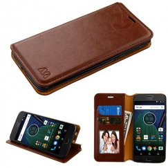 Motorola Moto G6 Brown Wallet(with Tray) -WP