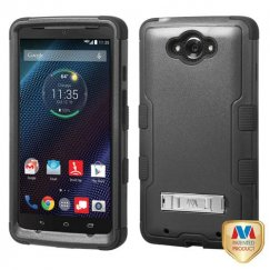 Motorola Droid Turbo Natural Black/Black Hybrid Case with Stand