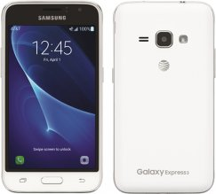 Samsung Galaxy Express 3 J120A 8GB Android Smartphone - AT&T Wireless - White