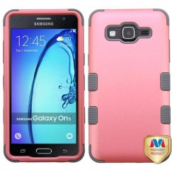 Samsung Galaxy On5 Rubberized Pearl Pink/Iron Gray Hybrid Case