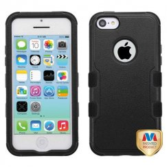 Apple iPhone 5c Natural Black/Black Hybrid Case