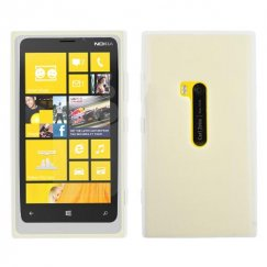 Nokia Lumia 920 Solid Skin Cover - Translucent White