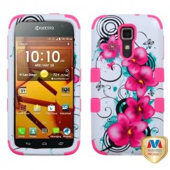 Kyocera Hydro Life / Hydro Icon Morning Petunias/Electric Pink Hybrid Case