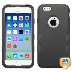 Apple iPhone 6s Rubberized Black/Black Hybrid Case