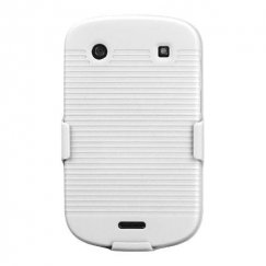Blackberry Bold 9930 Rubberized Solid Ivory White Hybrid Holster