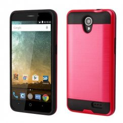 ZTE Prestige 2 Red/Black Brushed Hybrid Case
