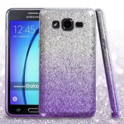 Samsung Galaxy On5 Purple Gradient Glitter Hybrid Case