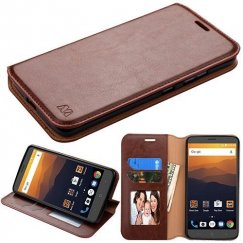 ZTE Blade Max 3 / Max XL Brown Wallet with Tray