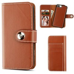 Apple iPhone 8 Plus Brown Detachable Magnetic 2-in-1 Wallet