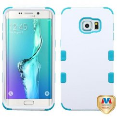 Samsung Galaxy S6 Edge Plus Ivory White/Tropical Teal Hybrid Case