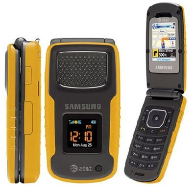 Samsung Rugby Sgh A837 Flip Phone Att Wireless Yellow