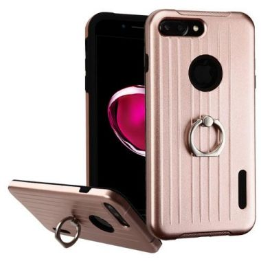 Apple Iphone 7 Plus Rose Gold Black Carry On Hybrid Case With Metal