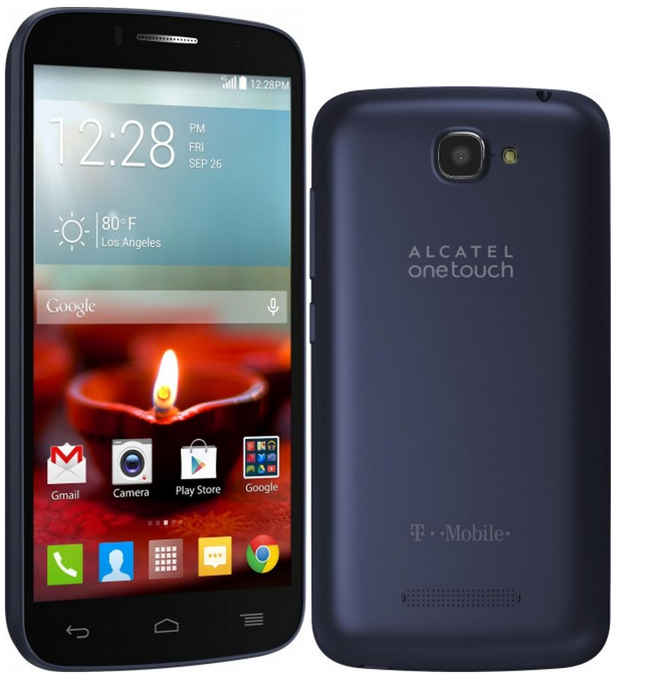 Alcatel OneTouch Fierce 2 Android Smartphone - T Mobile - Blue