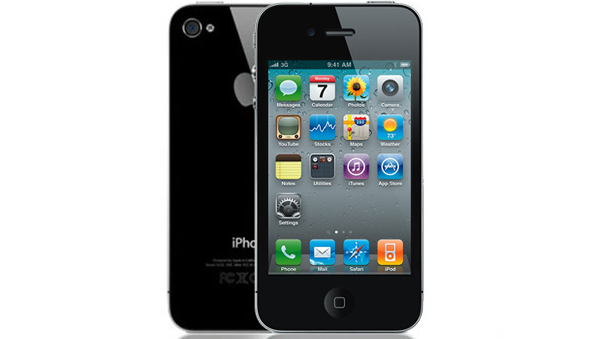 apple iphone 4s 8gb for att wireless in black good. Black Bedroom Furniture Sets. Home Design Ideas