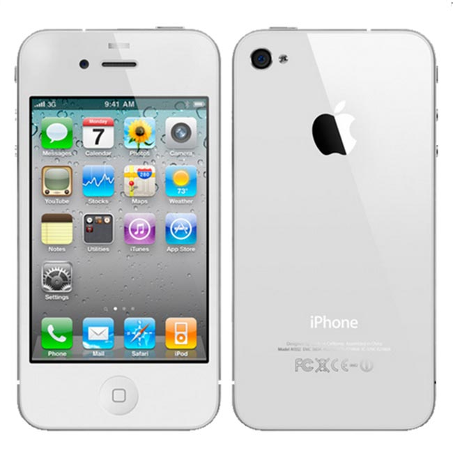 Apple iPhone 4 32GB Bluetooth WiFI GPS White Phone ATT