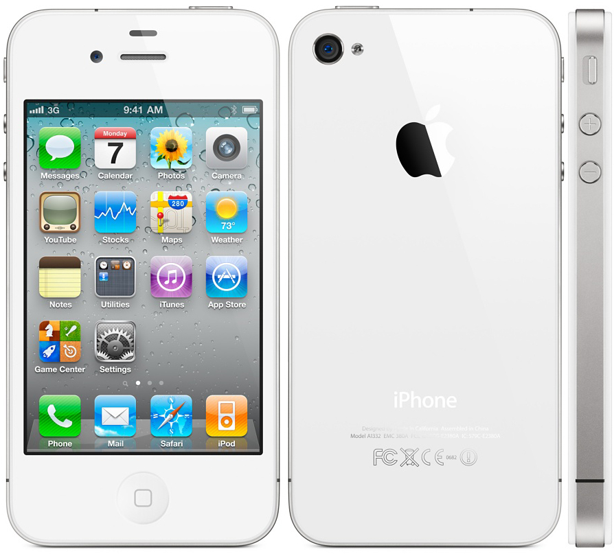 4d9113b16268ac Apple iPhone 4s 16GB Smartphone - T-Mobile - White - Good Condition ...