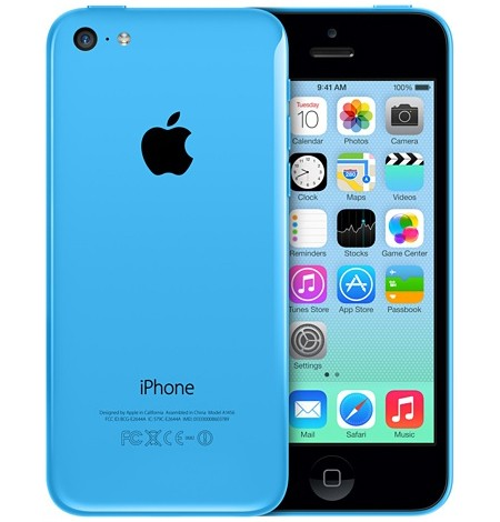 Apple iPhone 5C 16GB 4G LTE BLUE Smart Phone C-Spire Wireless - Fair Condition : Used Cell
